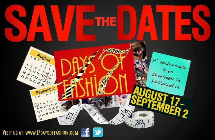 Save the date flier for 17 . . . Days of Fashion events