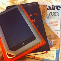 """Not sure if I should read a book, magazine or on my tablet."" - says one of the girls! #firstworldproblems"