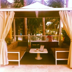 This was our home base on Sunday. We invited friends and family over to hang with us in the cabana.