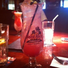 """This drink is called the """"Purple Haze"""" and is served at the Seminole Hard Rock Cafe."""