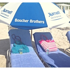 Pretty sweet deal when you can rent a chair and umbrella for $10/each for the entire day. The fact that food and drinks are served on the beach is an added bonus.