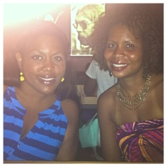Xayna and Sara look too cute waiting for our table at Yardbird.