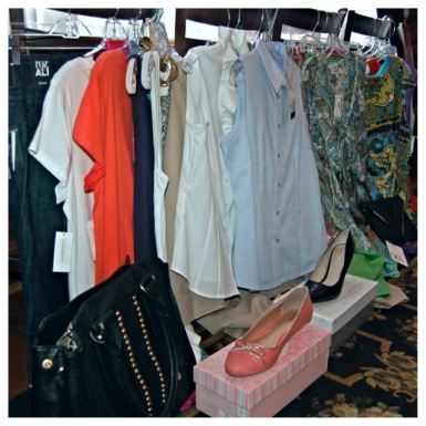 All of the clothes that Dress Barn Gateway Shopping Plaza allowed us to pull for the event!